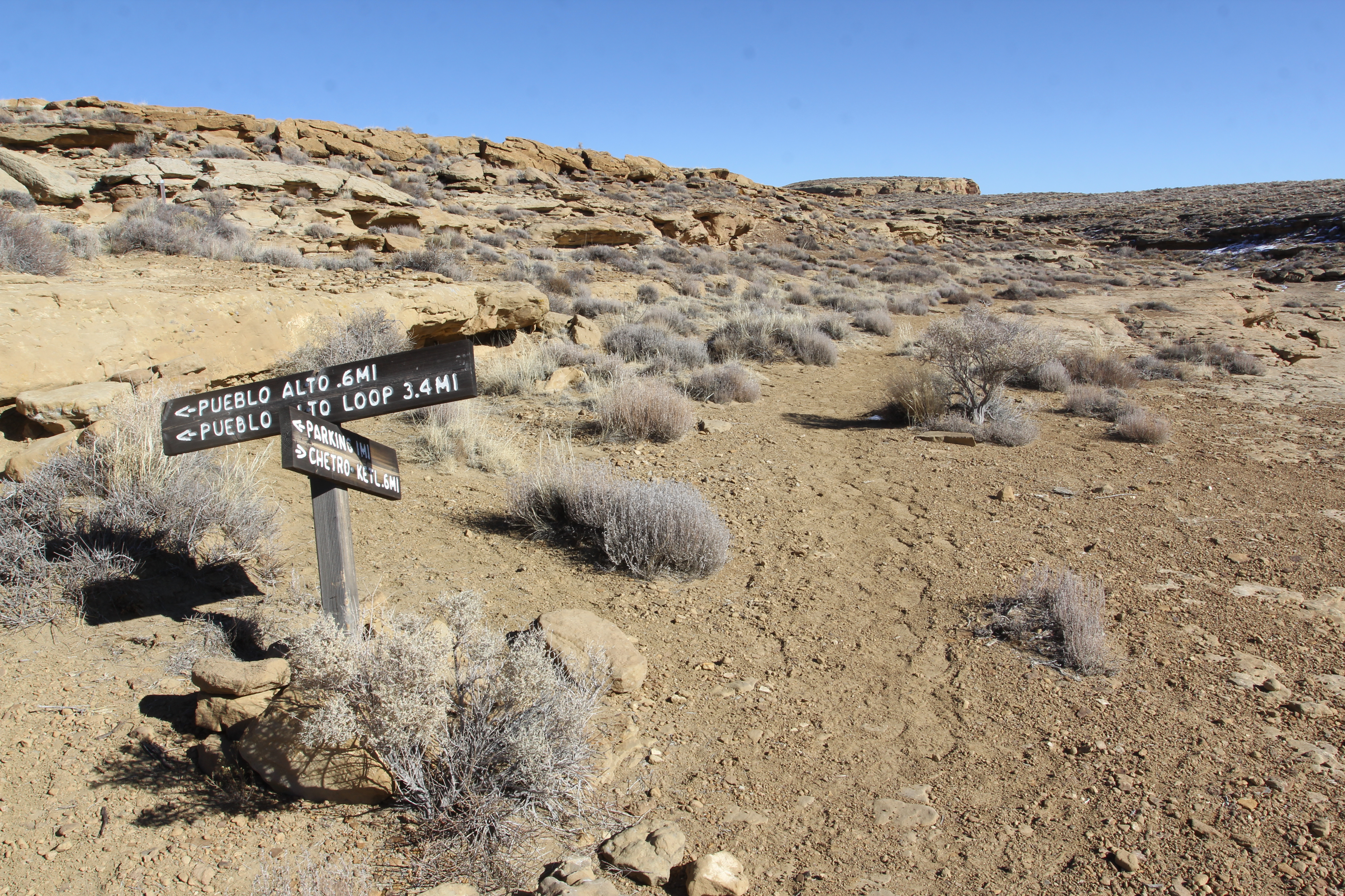 Pueblo Alto trail at Chaco Canyon in Nageezi, NM