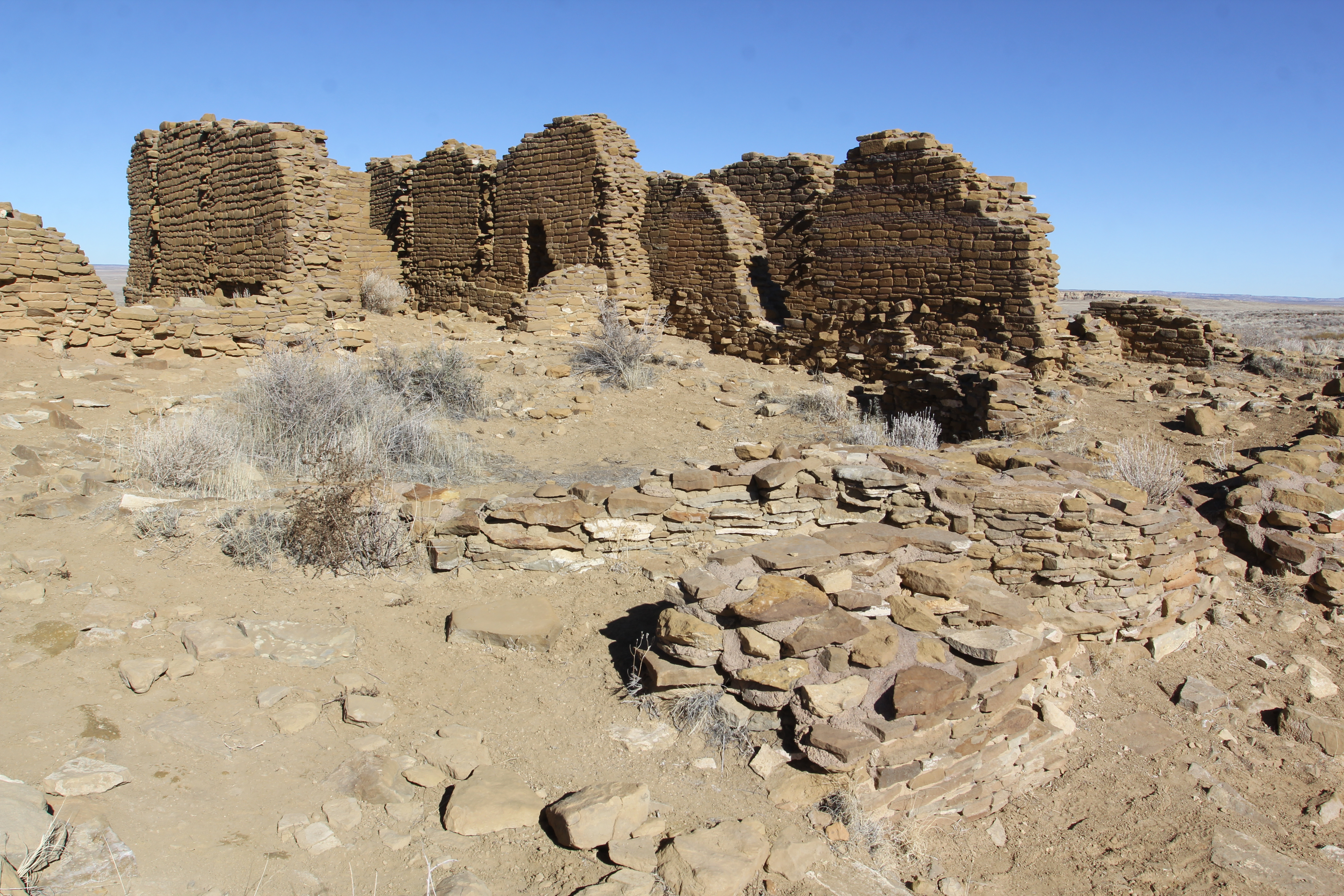 New Alto ruins at Chaco Canyon in Nageezi, NM