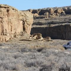 Ruins of Chetro Ketl at Chaco Culture National Historic Park –  Chaco Canyon  -  Nageezi, NM