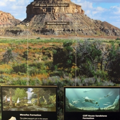 Artwork of North America by Ron Blakey at Chaco Culture National Historical Park