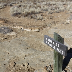 Pueblo Alto has almost been reduced to dust and rocks at Chaco Canyon in Nageezi, NM