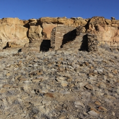 Hungo Pavi ruins in Chaco Canyon