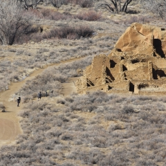 Kin Kletso ruins at Chaco Canyon in Nageezi, NM