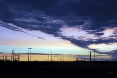 Last sunrise of the long journey on Hwy 176, TX