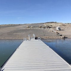 THE DOCK AT COCHITI LAKE