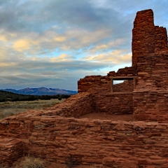Salinas Pueblo Mission National Monument - Abo Ruins at sunset